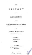 A History Of The Reformation Of The Church Of England 3 Vols In 6 And Index