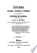 Etudes statistiques, historiques et scientifiques sur le département d'Indre et Loire (ancienne Touraine)