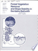 USDA Forest Service Research Paper INT