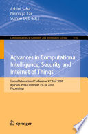 Advances in Computational Intelligence  Security and Internet of Things Book