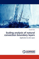 Scaling Analysis of Natural Convection Boundary Layers