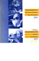 47ème Commission Sur Le Statut de la Femme, 2003