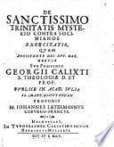 De sanctissimo trinitatis mysterio contra socinianos exercitatio