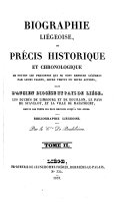 Biographie liégeoise; ou, Précis historique et chronologique de toutes les personnes qui se sont rendues célèbres