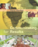 Communicating for Results  A Guide for Business and the Professions Book
