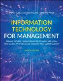 Information Technology for Management