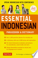 Essential Indonesian Phrasebook Dictionary Book
