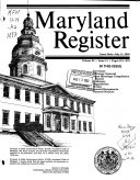 Maryland Register Book