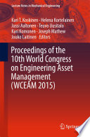 Proceedings of the 10th World Congress on Engineering Asset Management  WCEAM 2015  Book
