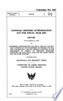 National Defense Authorization Act for Fiscal Year 2001