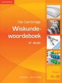 Books - Die Cambridge Wiskundewoordeboek vir Skole (Afrikaans) | ISBN 9780521708838