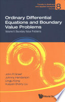 Ordinary Differential Equations and Boundary Value Problems