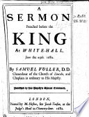 A sermon  on Matt  xxii  21  22  preached before the king at Whitehall  June 25  1682 Book
