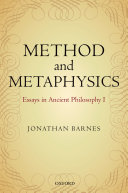 Method and Metaphysics