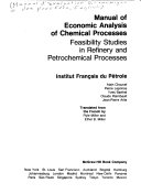 Manual of economic analysis of chemical processes