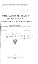 International Review Of The Science And Practice Of Agriculture