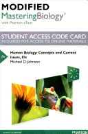 Human Biology Modified Mastering Biology With Pearson Etext Access Code Book