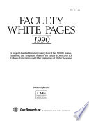 Faculty White Pages