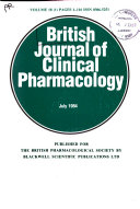 British Journal Of Clinical Pharmacology Book PDF