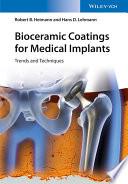 Bioceramic Coatings For Medical Implants Book PDF