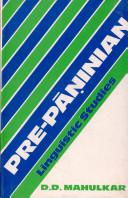 Pre P     inian Linguistic Studies