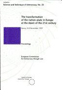 Les Mutations de L'Etat-nation en Europe À L'aube Du XXIe Siècle