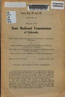 Case No  22 Before the State Railroad Commission