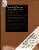 Twentieth-century Literary Criticism