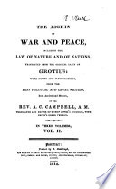 The Rights of War and Peace Book