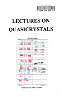 Lectures On Quasicrystals Book PDF