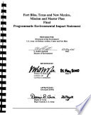 Fort Bliss Mission and Master Plan  TX NM