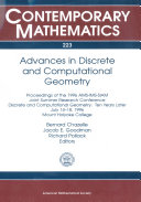 Advances in Discrete and Computational Geometry