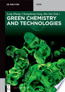 Green Chemistry And Technologies Book PDF