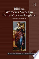 Biblical Women s Voices in Early Modern England