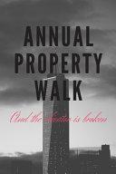 Annual Property Walk Humor Journal