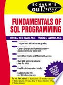 Schaum   s Outline of Fundamentals of SQL Programming