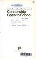 Censorship Goes to School Book
