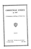 Christmas Lyrics of 1937