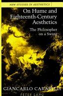 On Hume And Eighteenth Century Aesthetics