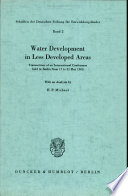 Water Development in Less Developed Areas