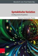 Syntaktische Variation: Areallinguistische Perspektiven