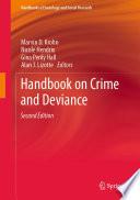 Handbook On Crime And Deviance Book PDF