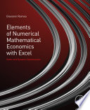 Elements of Numerical Mathematical Economics with Excel Book