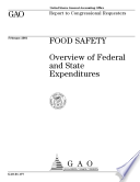Food Safety Overview Of Federal And State Expenditures  Book PDF