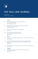 Yale Law Journal  Volume 124  Number 5   March 2015