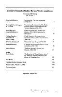 Journal Of Canadian Studies