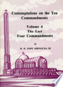 Contemplations on the Ten Commandments Vol  4