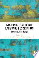 Systemic Functional Language Description