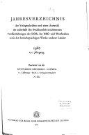 Jahresverzeichnis der Verlagsschriften und einer Auswahl der ausserhalb des Buchhandels erschienenen Veröffentlichungen der DDR, der BRD und Westberlins sowie der deutschsprachigen Werke anderer Länder