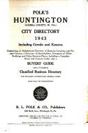 Polk s Huntington  Cabell Co   W  Va   city directory